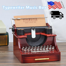 Typewriter Music Box Style for Collecting Decorating Christmas Gift Home Vintage