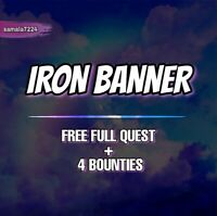 Iron Banner | 4 Bounties + Free Quest | Xbox Ps4 Pc | Ready in 24 Hours