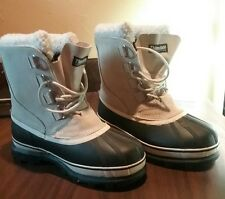 Ozark Trail Black and Beige Insulated Waterproff Winter Boots Womans size 10