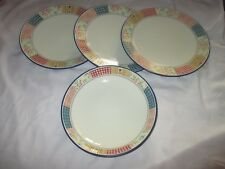 4pc Marks and Spencer Patchwork Stoneware 27.5cm Dinner Plates & Bowl