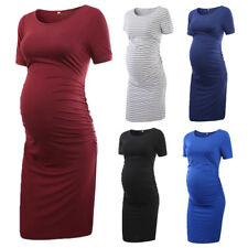 Pregnant Women Short Sleeve Party Casual Dress Maternity Cotton Summer Clothes