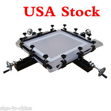 "US Stock-High Precise 24"" x 24"" Manual Screen Stretching Machine Screen Printing"