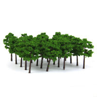 40pcs Model Train Layout Trees Railroad Scenery Wargame Diorama Z Scale 5cm