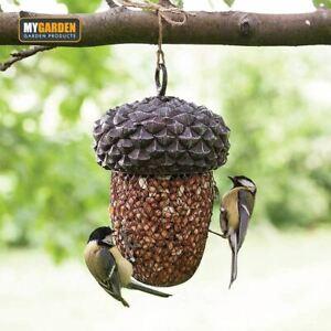 Acorn Shaped Metal Bird Feeder Nuts & Seeds Hanging Animal Feeder Garden Decor