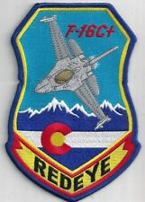 USAF 120th FIGHTER SQ  PATCH -   'F-16C+'  'REDEYE'  COANG                 COLOR