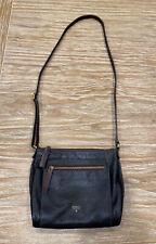 FOSSIL Black Leather Crossbody Purs