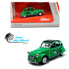 Schuco 1:64 Citroen 2Cv (Green) Diecast Model Car