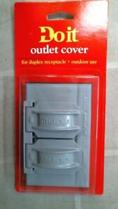DoitBest 514090 Gray Outlet Cover, Duplex Receptacle, Outdoor Use, FREE SHIP