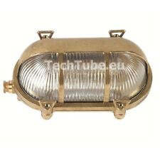 Ship lights Bulkhead Wall Light with Hood. Solid Brass Use Interior / Exterior