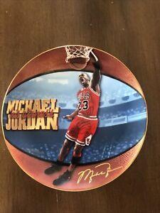 1998 Upper Deck Michael Jordan His Airness 6 Time NBA Finals MVP Plate Plaque