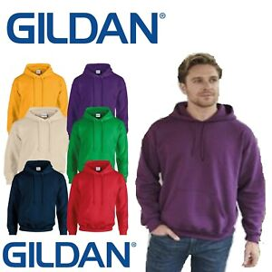 GILDAN Heavy Pullover Plain Hooded Sweatshirt Hoodie S - 5XL - 40 Colours
