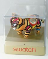 Swatch 2010 Year Of The TIGER Collectable Plush Watch Display Case Never Worn