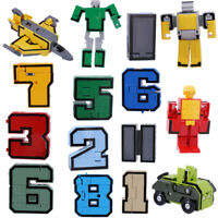 Pack of 15 Plastic Numbers Transform Robot Kids Math Educational Toy Gift
