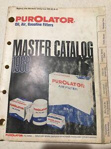1968 Purolator Oil Air Gasoline Filters Master Catalog Trucks Marine Tractor Car