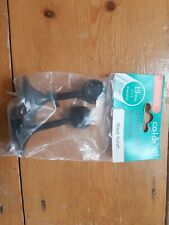 2 x ROTHLEY COLORAIL DELUXE END BRACKETS BLACK FINISH - 19mm dia
