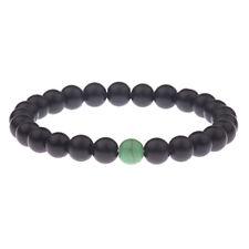 Women Men Black Onyx & Green Turquoise Beaded Distance Yoga Couples Bracelets