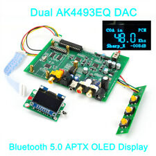 Dual AK4493EQ DSD DAC Bluetooth 5.0 Wireless Player XMOS Amanero USB LME49720