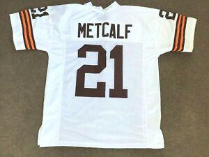 UNSIGNED CUSTOM Sewn Stitched Eric Metcalf White Jersey - M, L, XL, 2XL