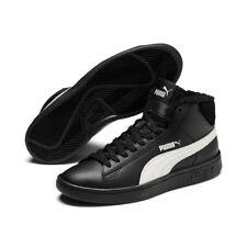 Puma Smash v2 Medio L Piel Jr Mujer Zapatillas Zapatos Retro Forrado Medio Corte