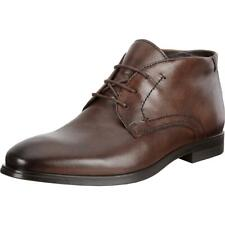 ECCO Mens Melbourne Leather Burnished Ankle Chukka Boots Shoes BHFO 3505