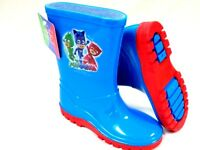BOYS NEW PJ MASKS WELLIES BLUE WELLY WELLINGTON BOOTS SIZE 5 - 10