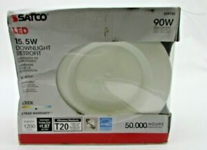 """ONE NEW SATCO LED 15.5W Downlight Retrofit (5"""" Or 6"""") 90W Dimmable"""