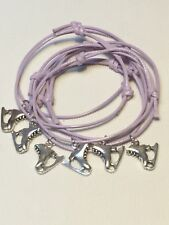 6 ICE SKATING FRIENDSHIP BRACELETS PARTY BAG FILLER FAVOURS Lilac Freepost