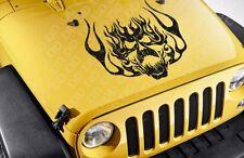 Large Flame Hood Skull Cool Tribal Graphic Rock Punk Car Vinyl Sticker Decal