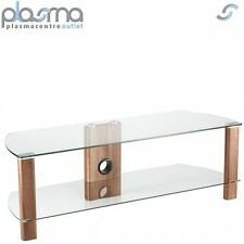 Alphason Century ADCE1200-WAL Clear Glass TV Stand