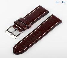 Uhren Lederarmband Uhrenband Leder Braun Weiß XXL MX20 Genarbt Armband