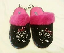 Girls Slippers Shoes Sz S (11.5-12) Pink Black NEW Children