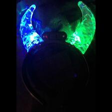 Multi Color Light Up Flashing Prism Devil Horns
