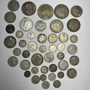 Estate Purchased 44 Piece Collectors Lot Of Silver Foreign Coins