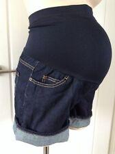 New Maternity Summer over the bump denim shorts by Liz Lange SM UK 10 - 12