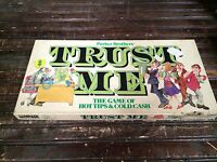 Vintage TRUST ME Board Game of Hot Tips Cold Cash Parker Brothers Copyright 1981