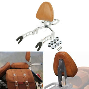 Sissy Bar Passenger Backrest + Mouting Spools For Indian Scout 15-20 Sixty 16-20