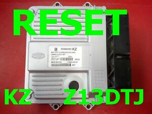 RESET Corsa D 1.3 cdti Z13DTJ ECU 55568383 - 55568383KZ  MJD6O3.S3 /FAST COURIER