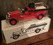 Vintage Ertl Diecast Replica Seagrave Fire Truck Bank Home Savings Youngstown