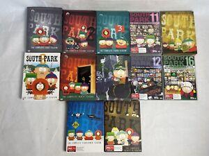 South Park DVD Bundle Set Season 1 2 3 8 9 10 11 12 13 16 18 & 20