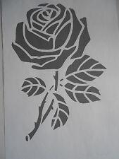 Schablone Rose mit Stiel auf A4