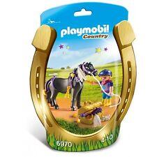 BNIP Playmobil 6970 PONY FARM Groomer with Star Pony