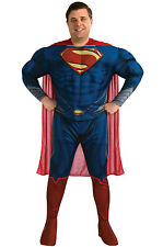Adult Plus Size 46-52 DC Comics Man of Steel Superman Deluxe Muscle Costume