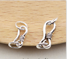 10pcs New nice Jewelry Connector S 925 Silver Clasp 13mm