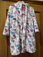 M&S hello kitty fleece dressing gown 6-7 years