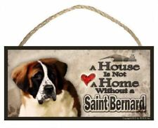 Saint Bernard  Aluminum Dog Bone Sign