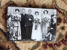 M17b8 6x4 Inches reprint Photograph ww2 Wedding Couple Bride a021 group mix