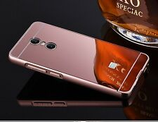 Metal Aluminum Frame Bumper Case+PC Mirror Slim Back Cover For Xiaomi Redmi