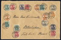 DR 1919, W 6, W 13 und andere auf schönem Umschlag, gepr. Winkler, Mi. 687,-