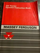 Massey Ferguson 231 Tractor Operator Instruction Manual