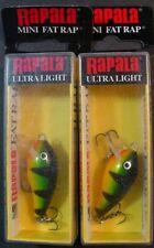 Rapala Mini Fat Rap-Balsa-MFR3-Two Same-NEW IN BOX-Perch-Ultra Light